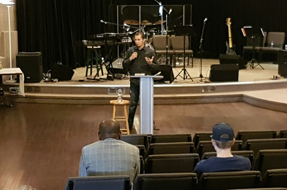 Tim Bessel speaking from his heart for his final message at The Oasis