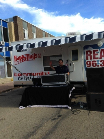Derek Millier bringing the beats for the Annual Block Party at The Oasis Group Campus