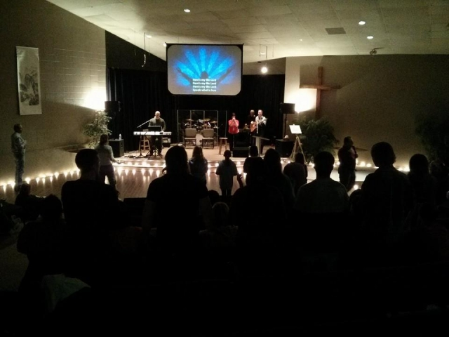 Worship beginning at the conference